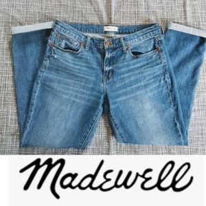 Madewell Slim Boyjean jeans, size 29, roll cuff